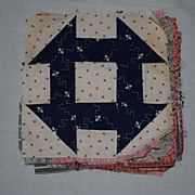 24 Vintage 1890's quilt Blocks, Churn Dash-lots of Beautiful prints!