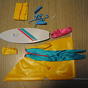 Mid 1980's Barbie clothes, Windsurfer and Snorkeling set