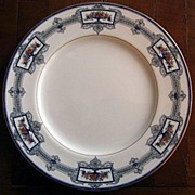 Royal Worcester Dinner Plate Cobalt Blue Floral 651926