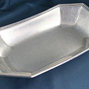 Vintage Wilton Columbia Pewter Bread Tray, Signed