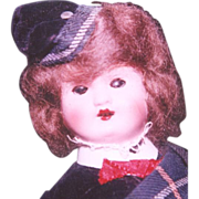 SALE Painted bisque Scottish Lass doll