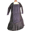 Pretty vintage black doll dress French pattern very elegant