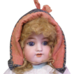Antique French silk doll hat Beautiful