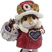 "Wee Forest Folk Mouse ""Have a Heart"""