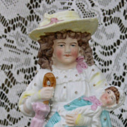 SALE Bisque figurine of a Mother and Child