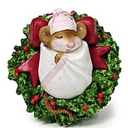 "Wee Forest Folk Mouse ""Christmas Cutie"""
