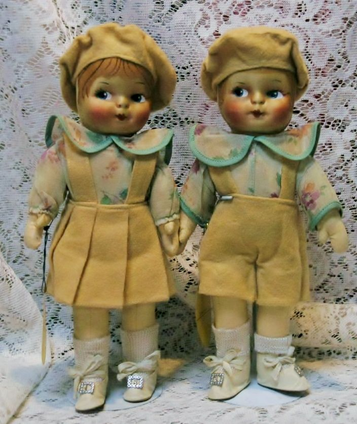 "11"" Pair,  Brother and Sister, by Blossom Doll, original tags"