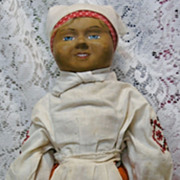 SALE Rare Vintage Russian Papier-mache Doll in Original Costume