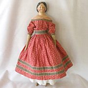 German Papier Mache Milliners Model with Covered Wagon Hairstyle