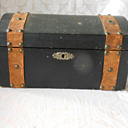 Antique Humpback Doll Trunk