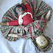 Bruckner Topsy Turvy Mask Face Cloth Doll