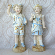 Lovely German Bisque Figurine Pair