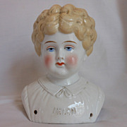SALE PENDING �Helen� Pet Name German Glazed Porcelain China Shoulder Head by Hertwig