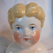 SALE PENDING German Alt, Beck & Gottschalck Glazed Porcelain China Head