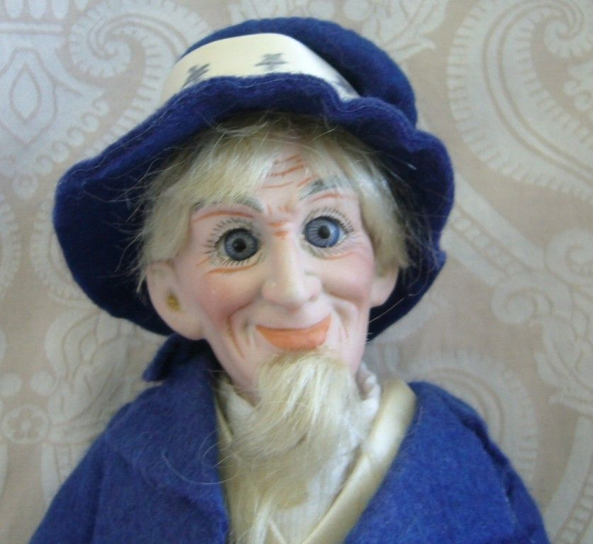 Cuno & Otto Dressel German Bisque Head Portrait Series Uncle Sam Doll