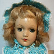 REDUCED Mary Hoyer Composition Doll with Crocheted Outfit