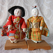 Tiny Pair of Japanese Dolls