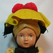All Original West German Celluloid Ethnic Girl Doll