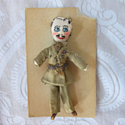 Tiny Cloth Doll in Military Uniform