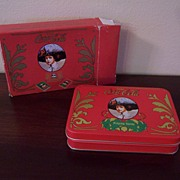 Coca-Cola Gibson Girl Holiday 2 Deck Playing Card Set, Matching Tin