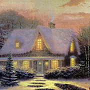 ARTIST PROOF Signed/Numbered CHRISTMAS EVE Canvas by Thomas Kinkade