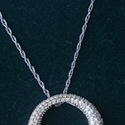 SOLD 14K white gold diamond pendant necklace