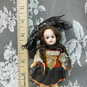 5 & 1/2  &quot; Antique German Bisque Doll 5 Piece Compo Body AO
