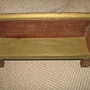 Early Wooden Doll Bench Handmade