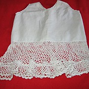 SALE Darling Vintage Baby Dress with Wide Knit Lace Ruffle