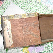 Folk Art Cigar Box Art Wooden Scoop Tobacciana