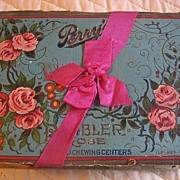 REDUCED Antique Rare Perry Candy Co Box Long Island City NY