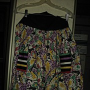 REDUCED Unique and Colorful Vintage Apron for the Serious Collector