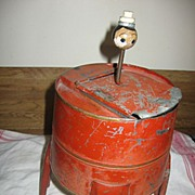 SALE 1930s or 40s Red Toy Tin Washing Machine
