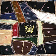 REDUCED Best of the Best Mennonite Made Victorian Crazyquilt Square