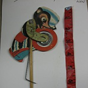 SALE Wonderful Vintage Paper Toy Skunk Playing Cymbals