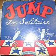 SALE Vintage Patriotic Jump for Solitaire Game by Selchow & Righter Co