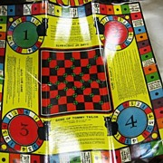 SALE 12 Game Combination Board Milton Bradley 1937 Excellent Lithography