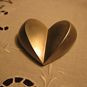 Lovely Vintage Heart Pin Brooch by Givenchy