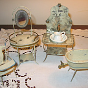 SALE Rare Early 1900s Made in Germany Victorian-Edwardian Style Doll Bathroom Furniture
