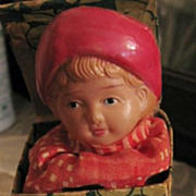 SALE Antique Celluloid Child Jack in the Box Toy for Dolls