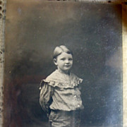 REDUCED Bronsons Studio Montrose Pa RPPC Boy in Polka Dot Knickers