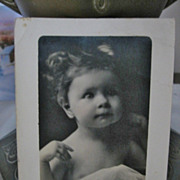 Adorable Expression on Childs Face Real Photo Postcard