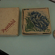Hankie Collectors Check This Out Miniature Box with Original Hankie