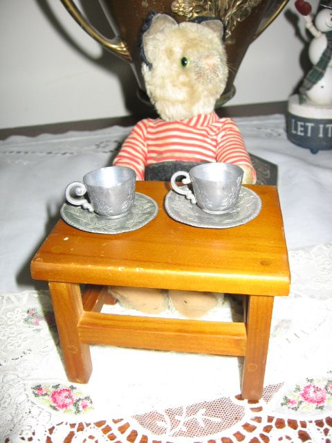 Miniature Wooden Table for Dolls