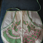 1930s Bonnet Lady Clothespin Bag