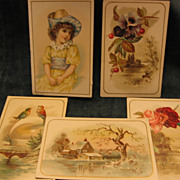 Victorian Era Chromolithographed Cards
