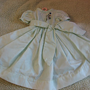 SALE Lovely Vintage Pastel Green Doll Dress