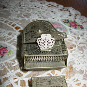Early 1900s Dollhouse Minature Filigree Grand Piano and Bench