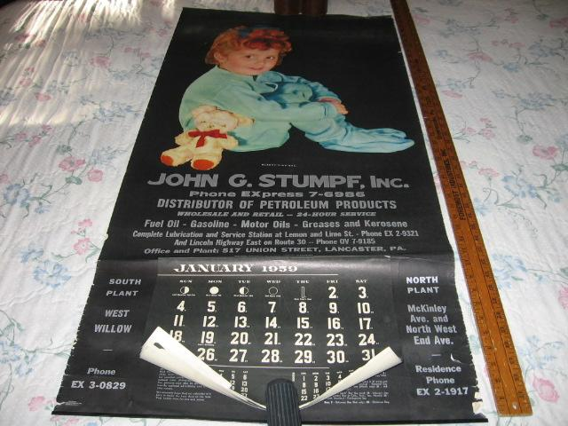 Vintage Lancaster Pa Advertising Calendar Sleepy Time Gal