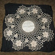 Large Crocheted Doily Fancywork Beauty!